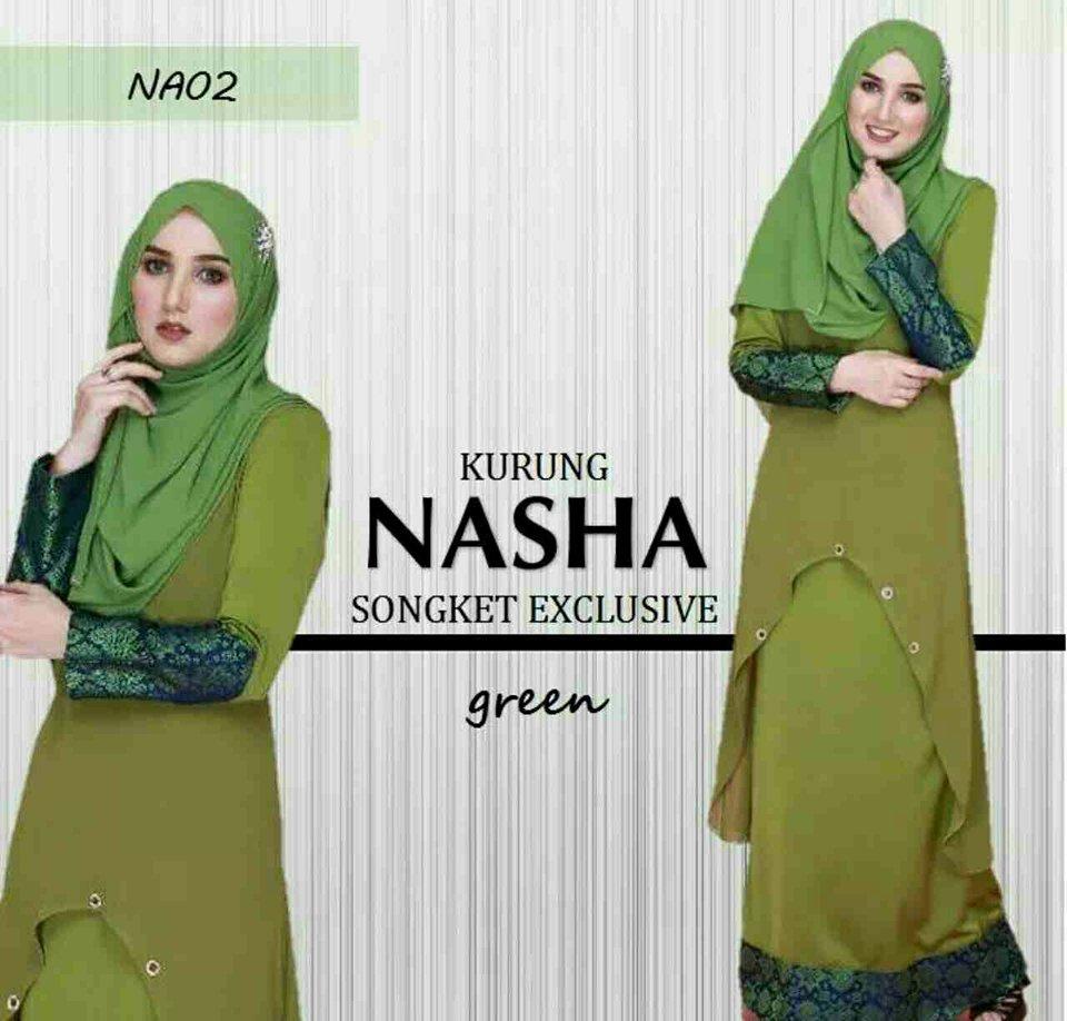 KURUNG NASHA SONGKET GREEN