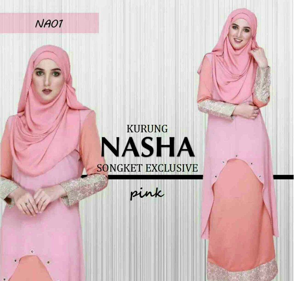 KURUNG NASHA SONGKET PINK