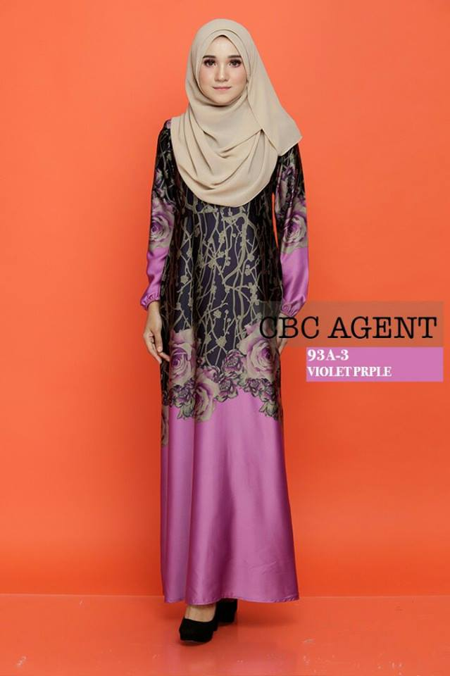 DRESS ADELIA 93A 3 VIOLET PURPLE
