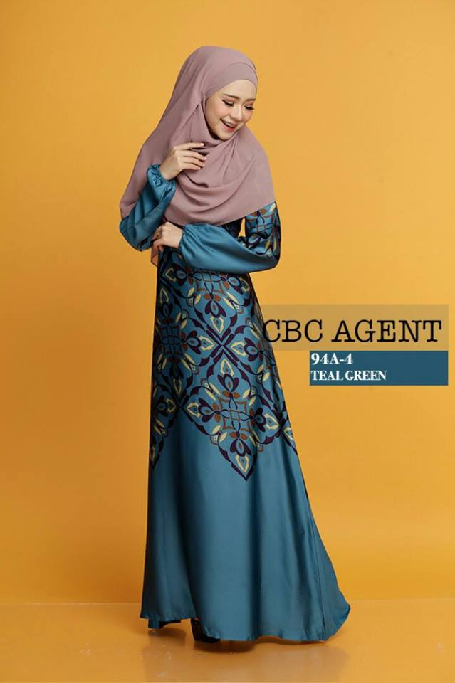 DRESS ADELIA 94A 4 TEAL GREEN