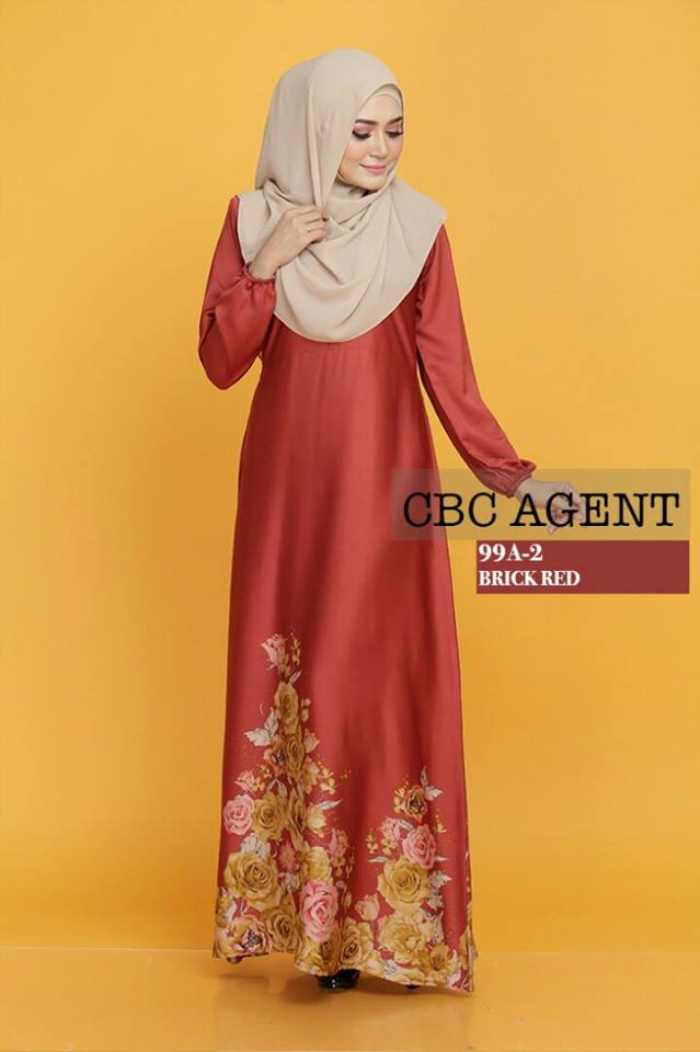 DRESS ADELIA 99A 2 BRICK RED