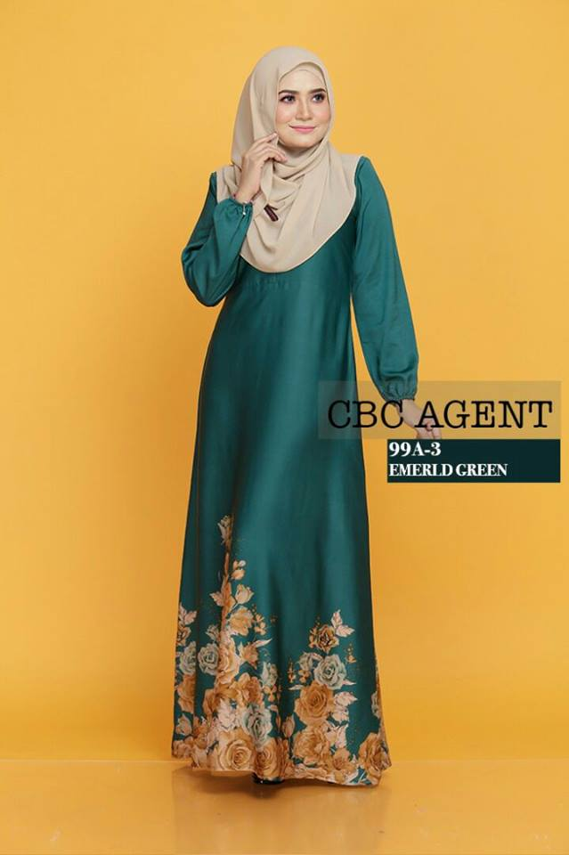 DRESS ADELIA 99A 3 EMERALD GREEN