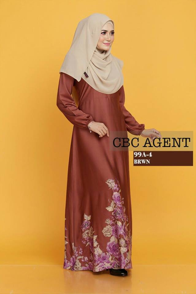 DRESS ADELIA 99A 4 BROWN