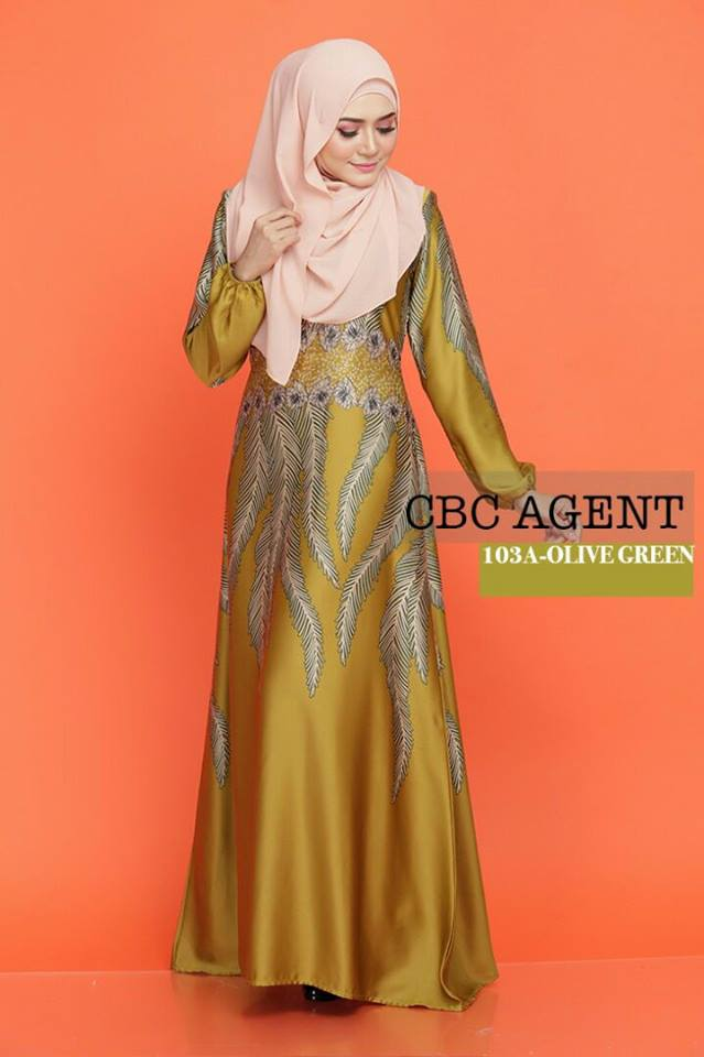DRESS ADELIA KOD 103A OLIVE GREEN