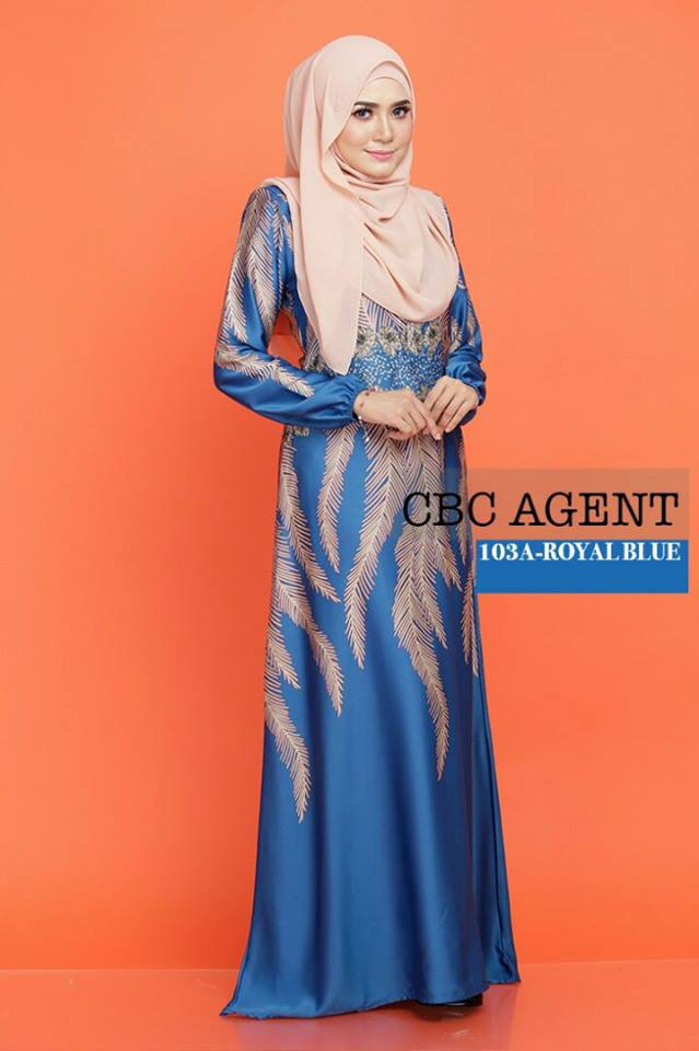 DRESS ADELIA KOD 103A ROYAL BLUE