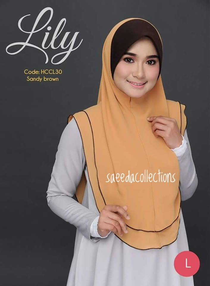 TUDUNG RAYA CHIFFON LABUH L LILY HCCL30