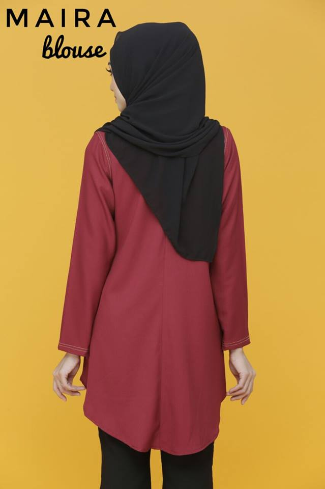 BLOUSE MUSLIMAH MAIRA CLOSE UP 2