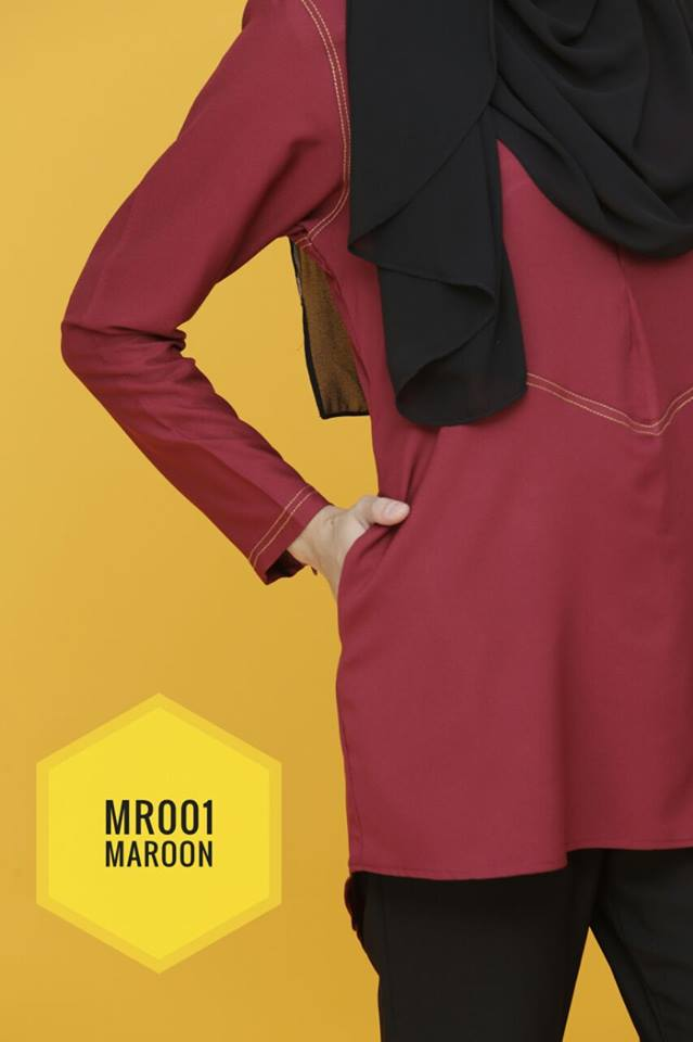 BLOUSE MUSLIMAH MAIRA CLOSE UP