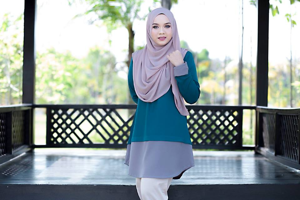 BLOUSE MUSLIMAH TULIP DEEP TURQOISE A