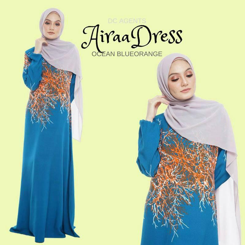 DRESS AIRAA CLASY BLUEORANGE