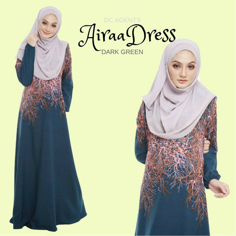 DRESS AIRAA DARK GREEN