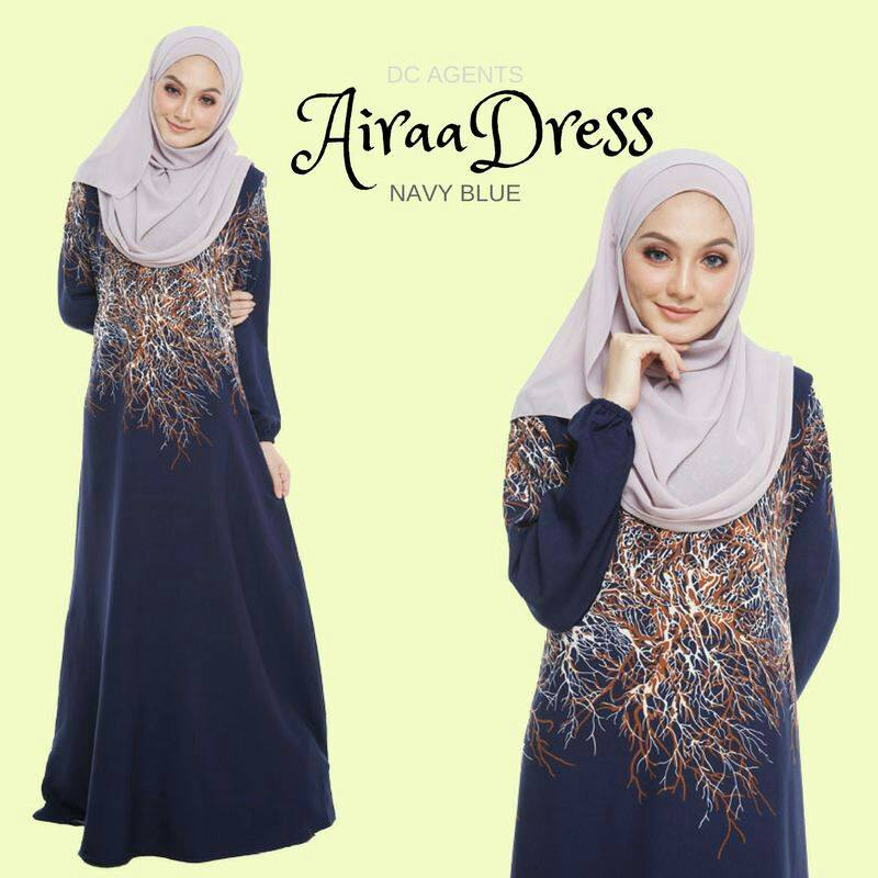 DRESS AIRAA NAVY BLUE