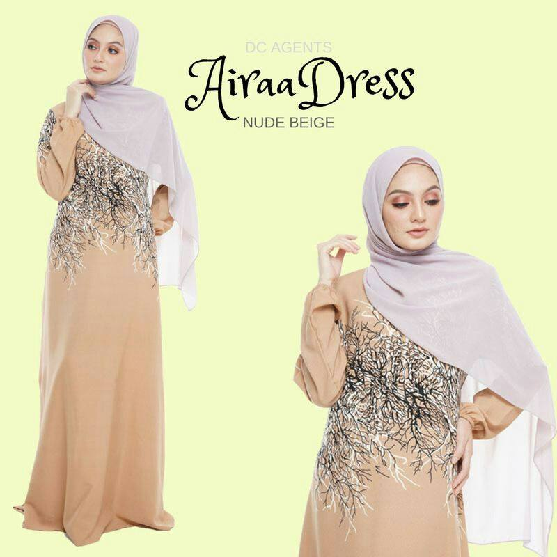 DRESS AIRAA NUDE BEIGE