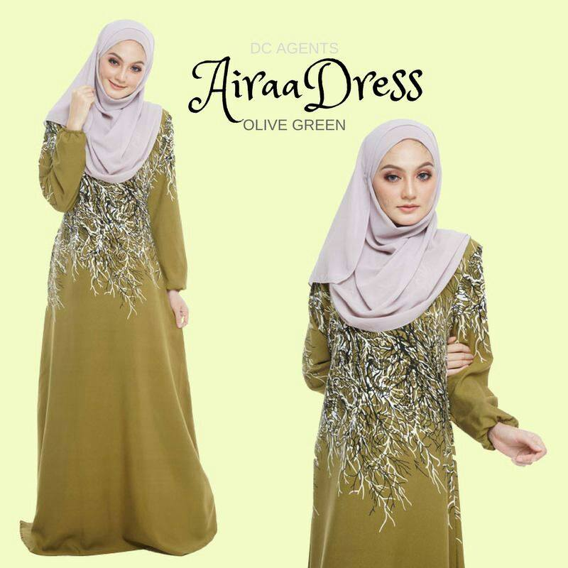 DRESS AIRAA OLIVE GREEN