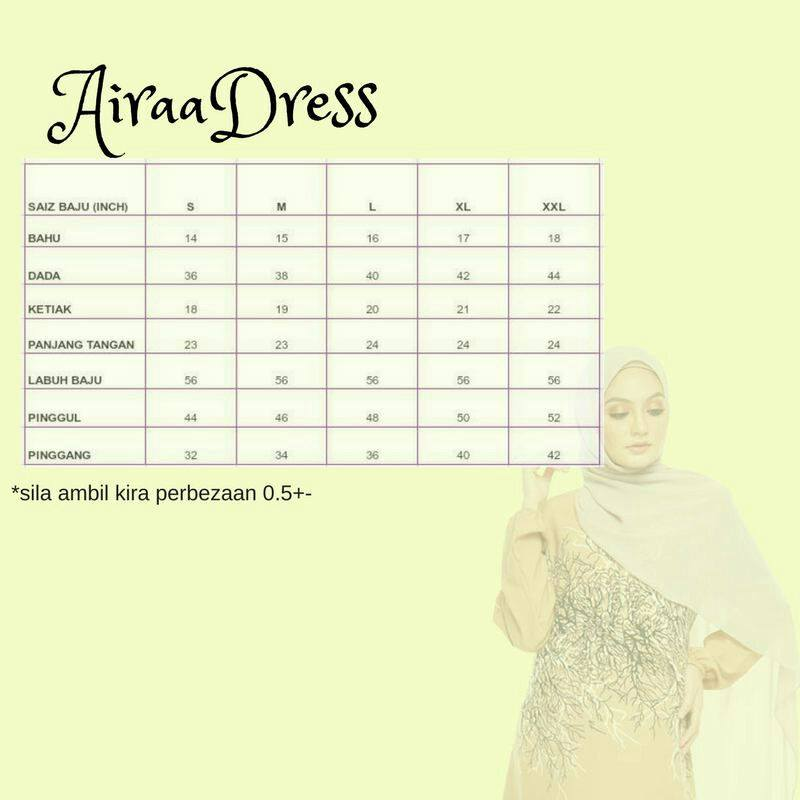 DRESS AIRAA UKURAN