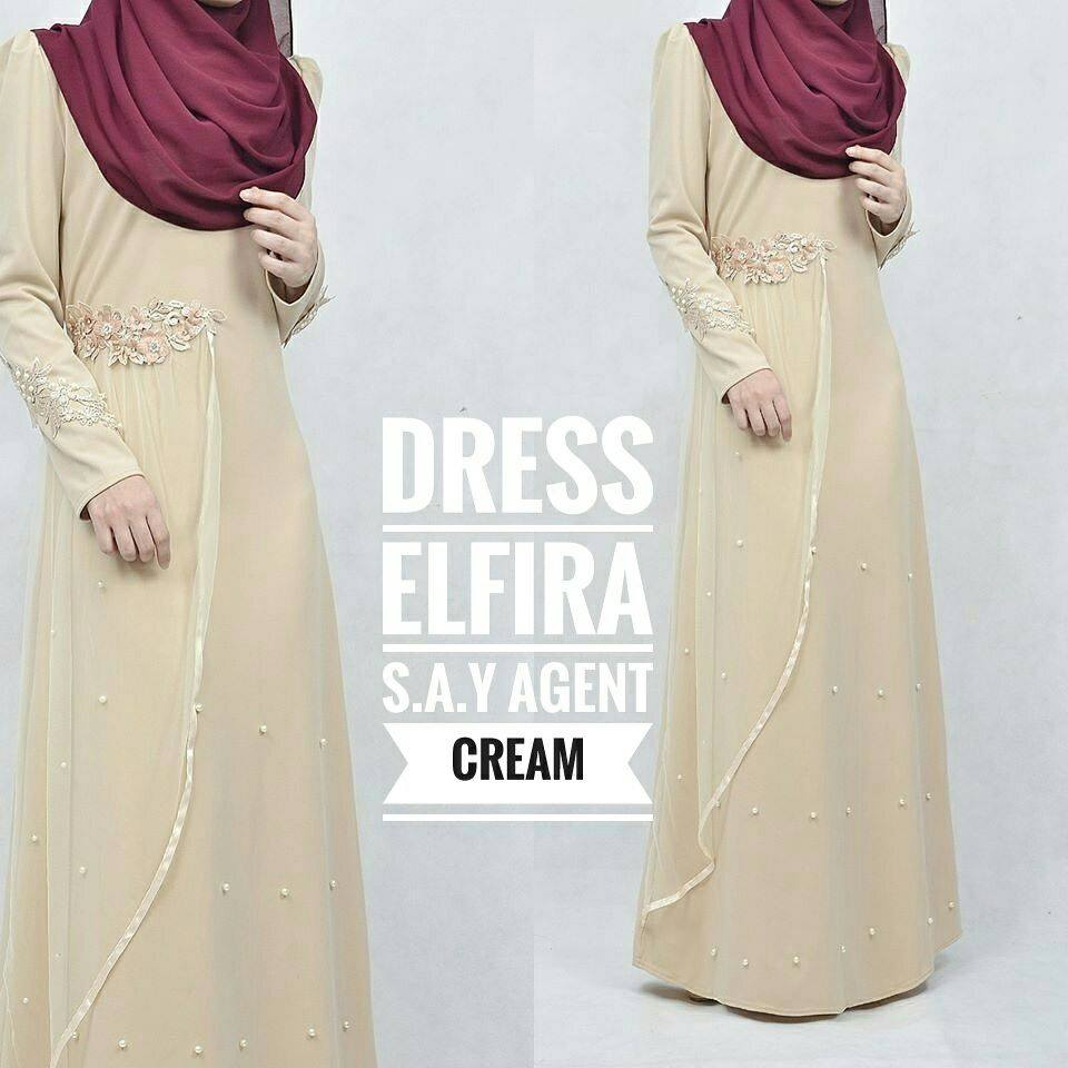 DRESS ELFIRA CREAM