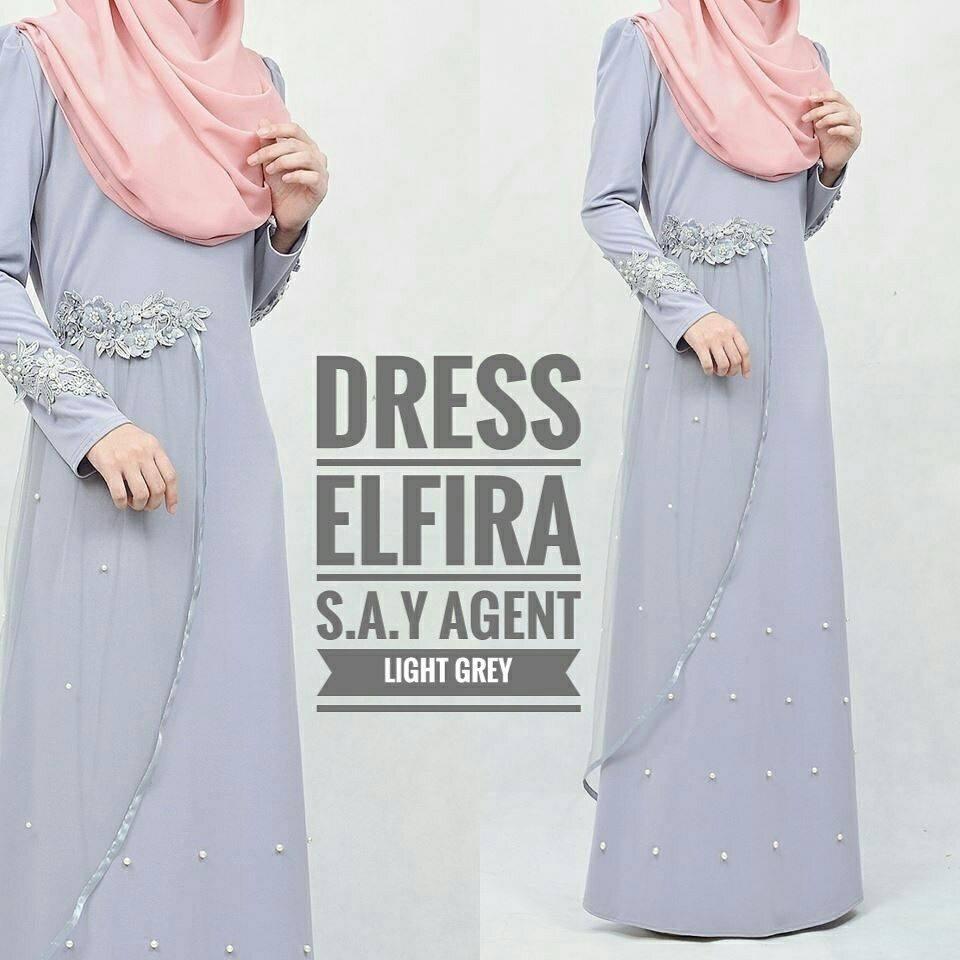 DRESS ELFIRA LIGHT GREY