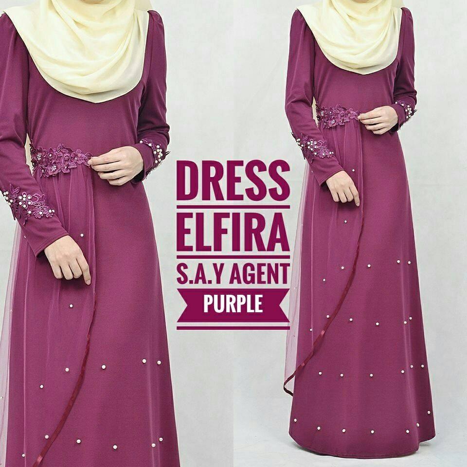 DRESS ELFIRA PURPLE