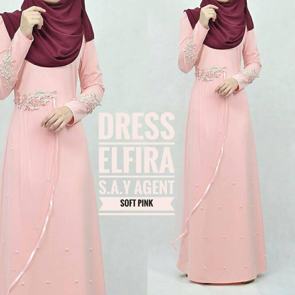 DRESS ELFIRA SOFT PINK