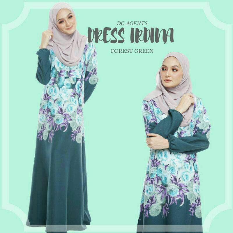 DRESS IRDINA FOREST GREEN