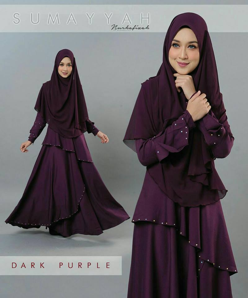 DRESS SUMAYYAH DARK PURPLE
