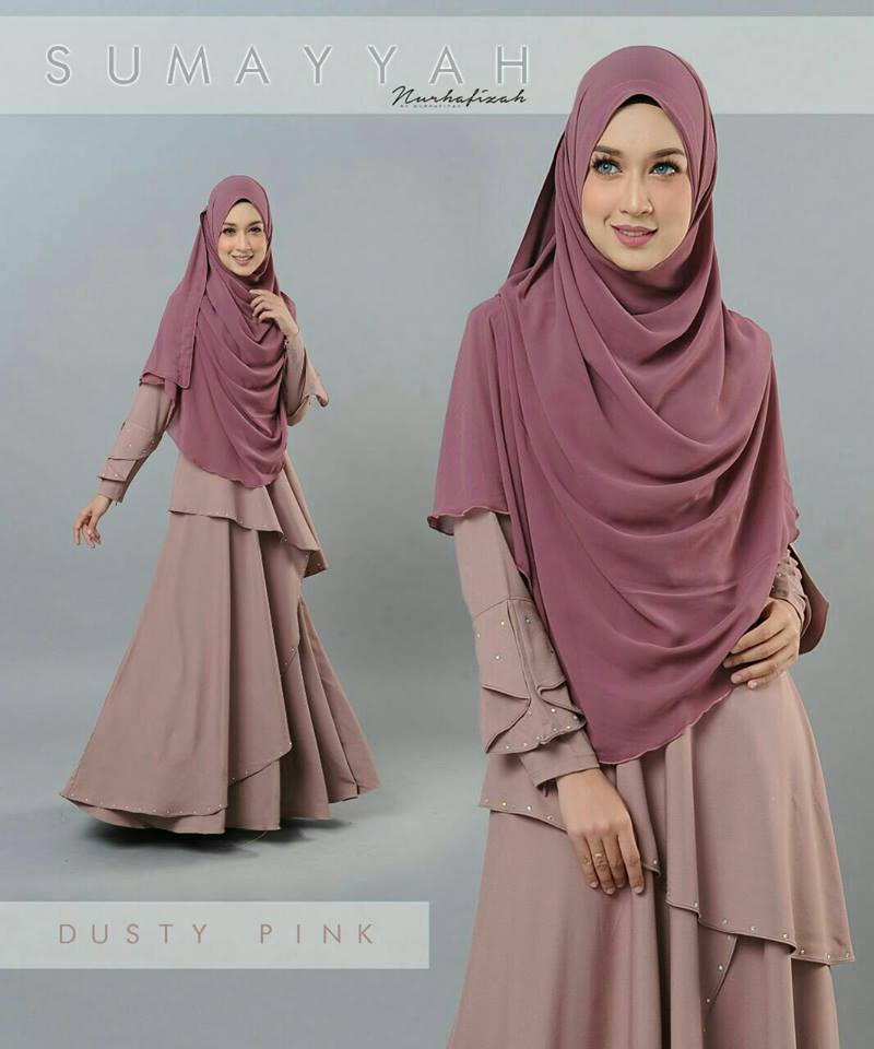 DRESS SUMAYYAH DUSTY PINK