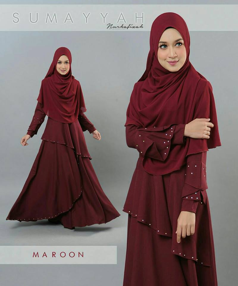 DRESS SUMAYYAH MAROON