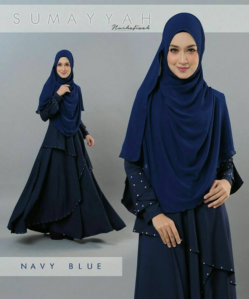 DRESS SUMAYYAH NAVY BLUE