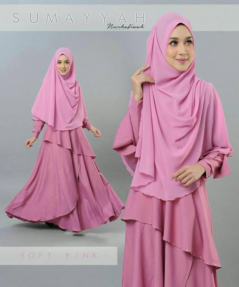 DRESS SUMAYYAH SOFT PINK