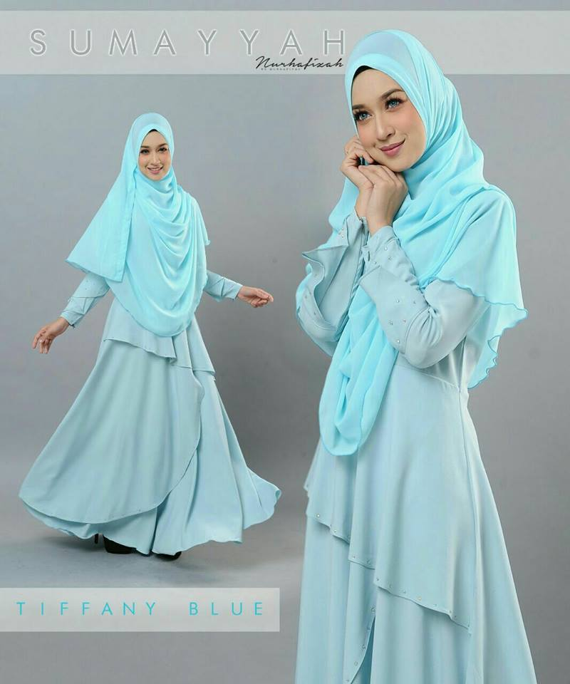 DRESS SUMAYYAH TIFFANY BLUE
