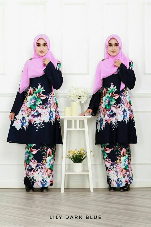 KURUNG LILY DARK BLUE