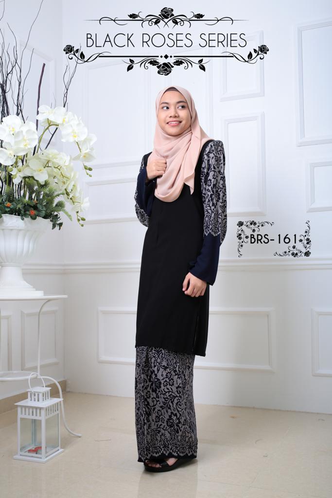 KURUNG MALAYSIA BLACK ROSES SERIES BRS161