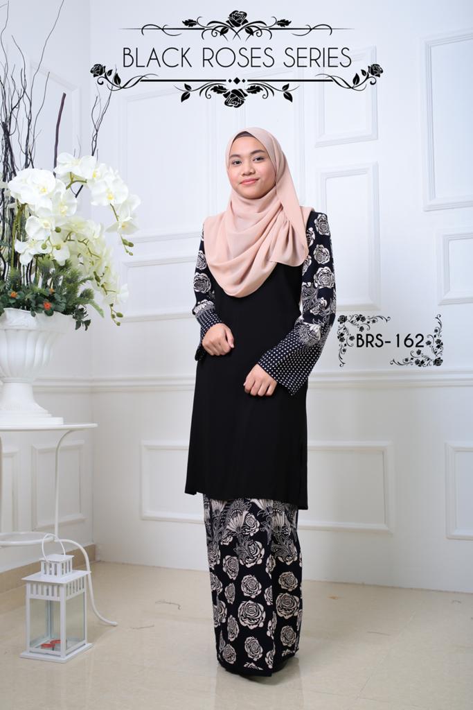 KURUNG MALAYSIA BLACK ROSES SERIES BRS162