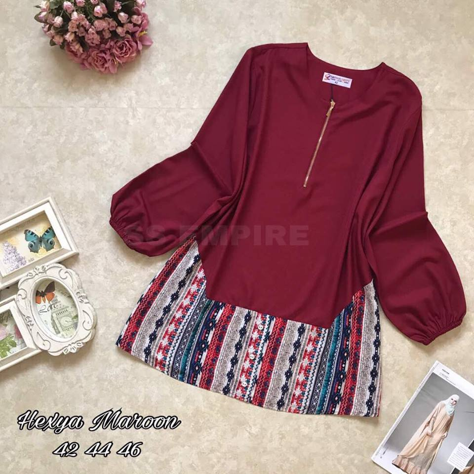 BLOUSE HEXYA MAROON