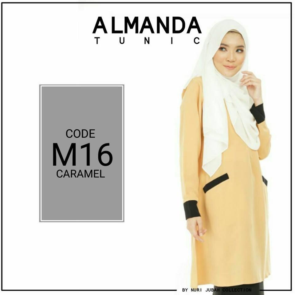 BLOUSE MUSLIMAH ALMANDA M16