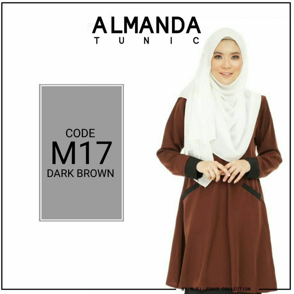 BLOUSE MUSLIMAH ALMANDA M17