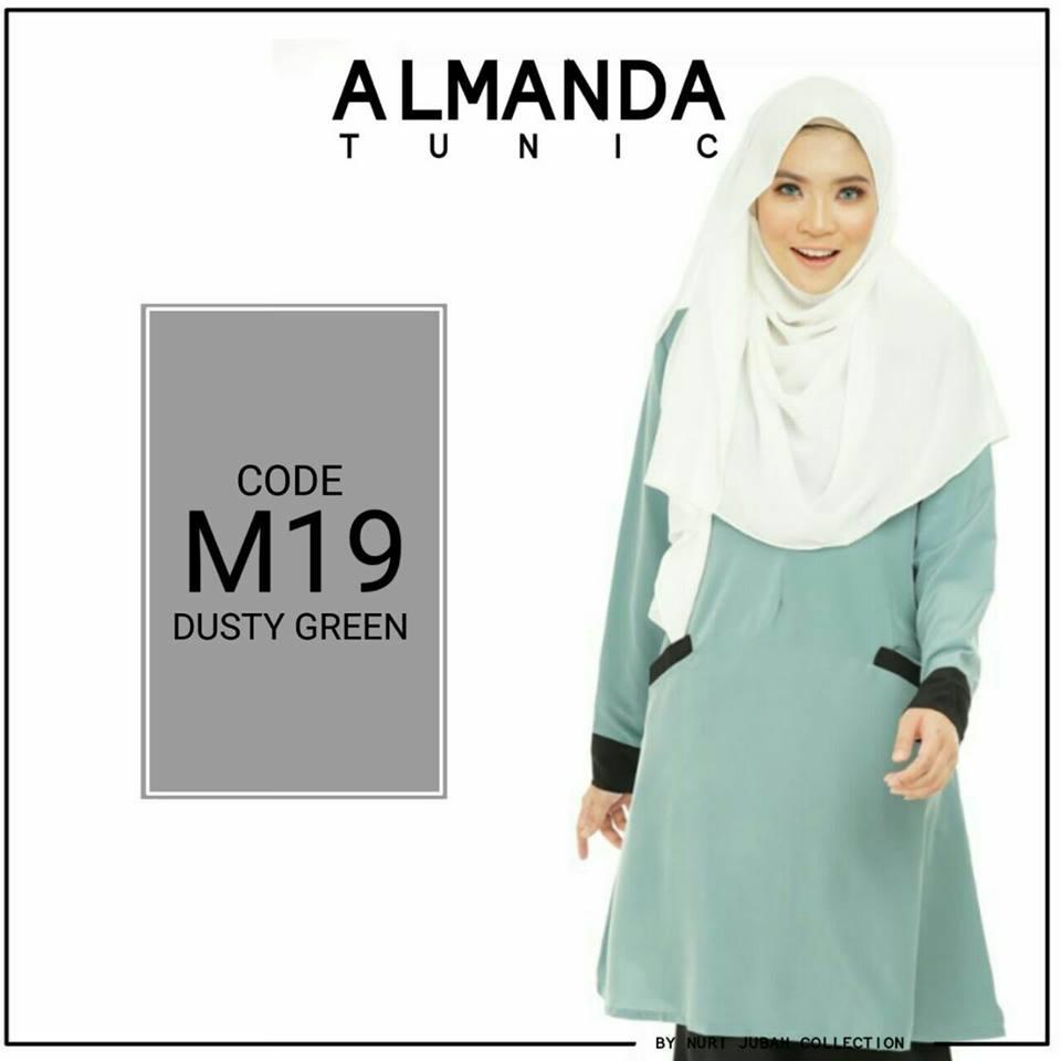 BLOUSE MUSLIMAH ALMANDA M19