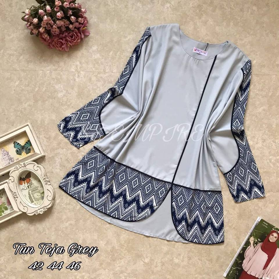 BLOUSE TUN TEJA GREY