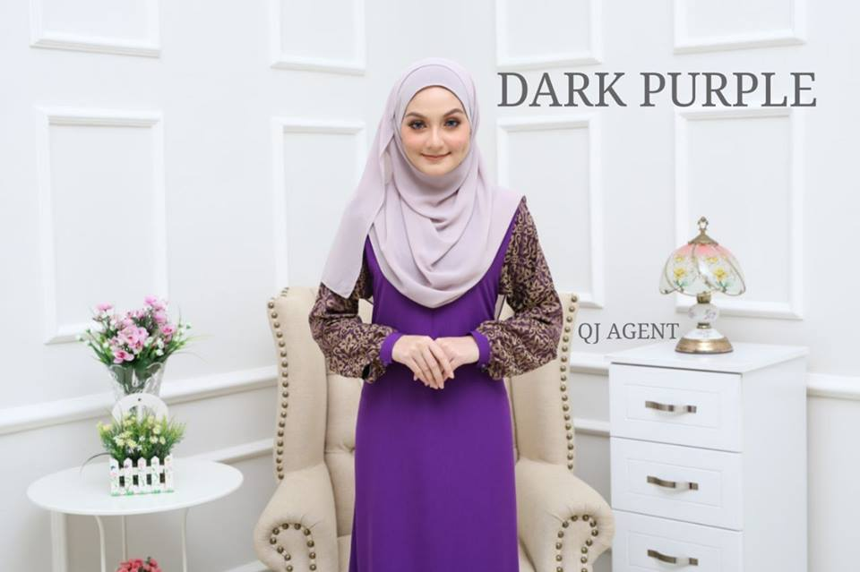 JUBAH AISYAH DARK PURPLE 1