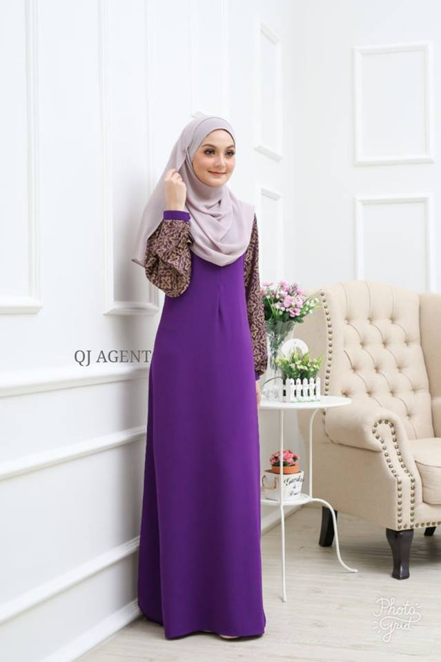 JUBAH AISYAH DARK PURPLE 2