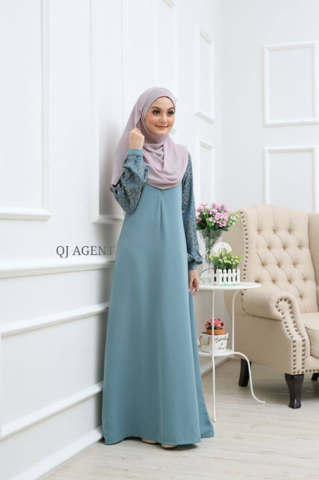 JUBAH AISYAH DUSTY GREEN 2