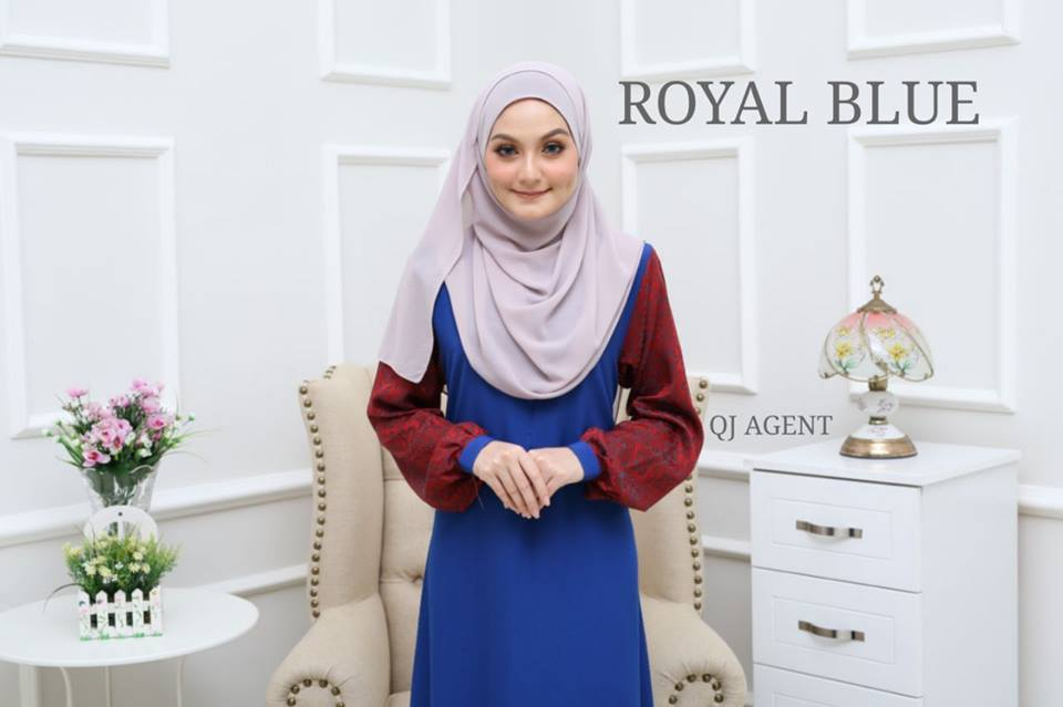 JUBAH AISYAH ROYAL BLUE 1