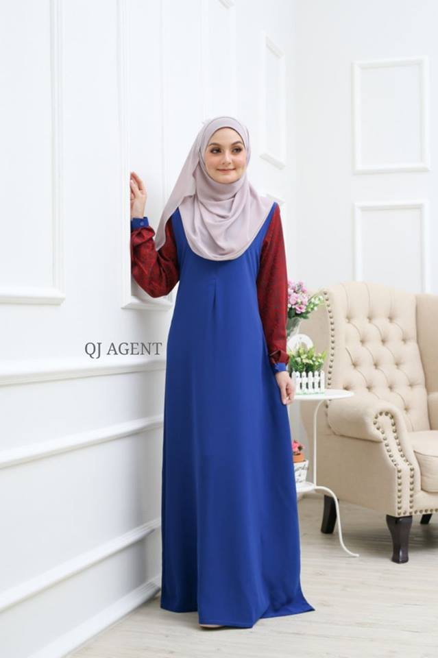 JUBAH AISYAH ROYAL BLUE 2