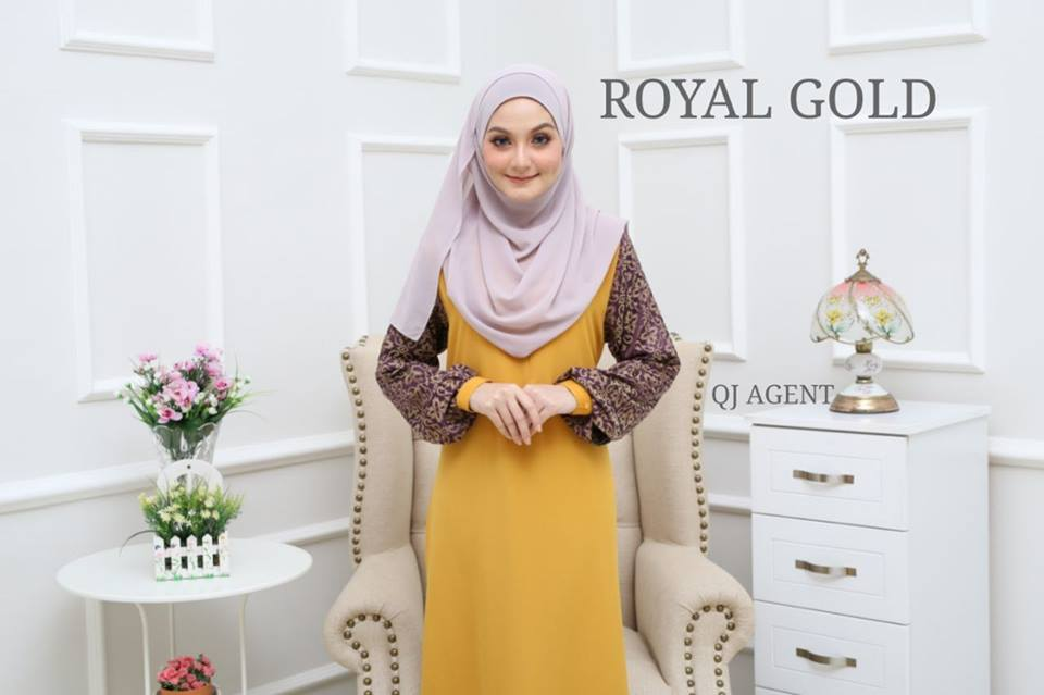 JUBAH AISYAH ROYAL GOLD 1