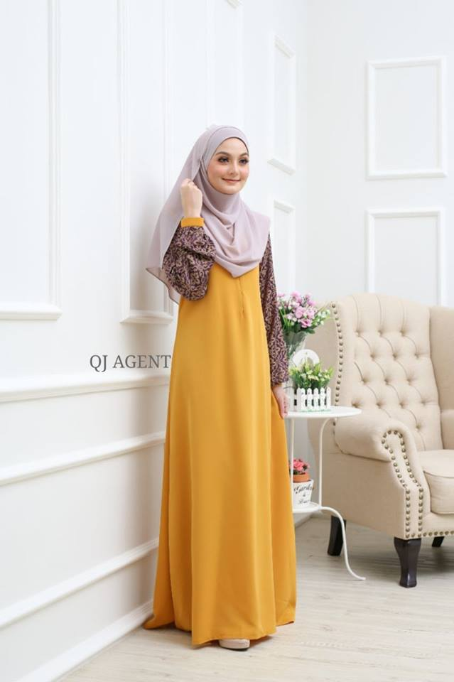 JUBAH AISYAH ROYAL GOLD 2