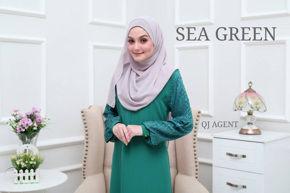JUBAH AISYAH SEA GREEN 1