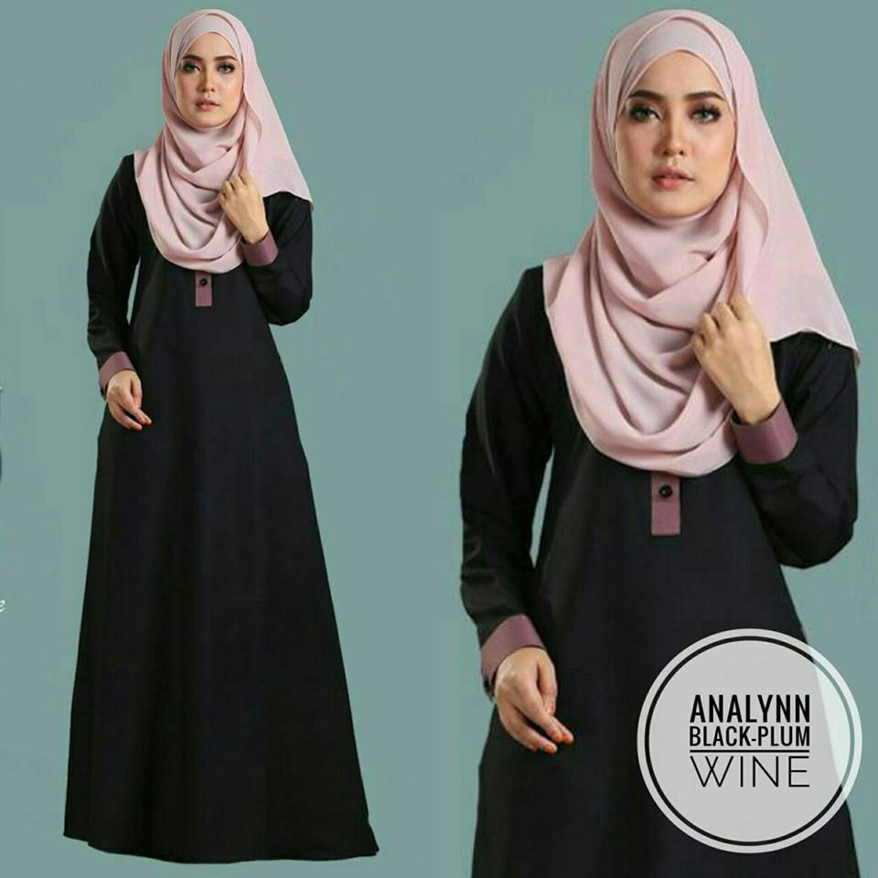 JUBAH ANALYNN BLACK WINE