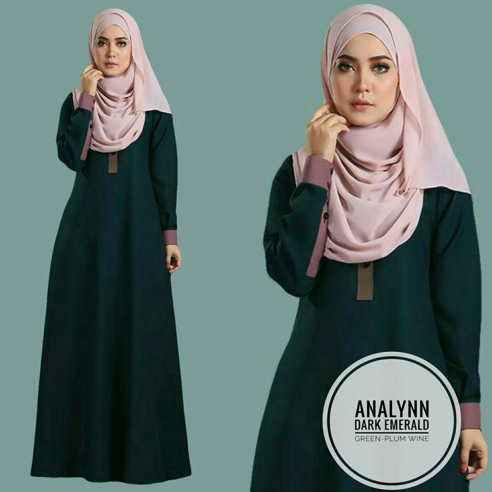 JUBAH ANALYNN DARK EMERALD