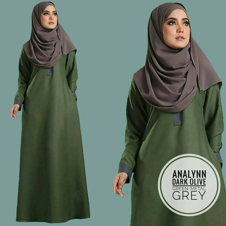 JUBAH ANALYNN OLIVE GREY