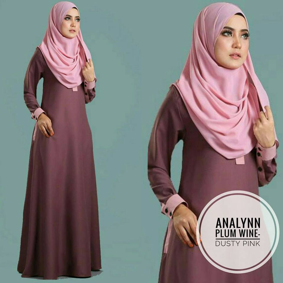 JUBAH ANALYNN PLUM DUSTY PINK